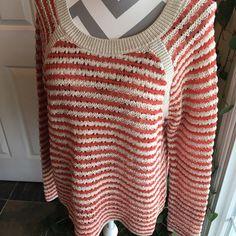 Loft cotton weave sweater Just adorable cotton weave sweater.  Never worn. LOFT Sweaters Crew & Scoop Necks