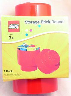 LEGO Storage Brick Round Red Container 000013 - Toysheik