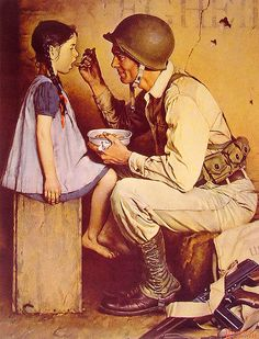 """The American Way"" by Norman Rockwell, 1944. #WW2 #vintage #propaganda #poster #art #soldier"