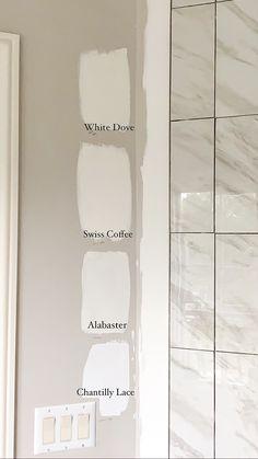 Off White Paints, White Paint Colors, Paint Colors For Home, Wall Colors, House Colors, White Paint For Trim, Colours, Paint Color Schemes, Colour Pallete