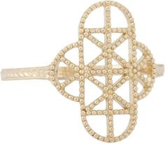 Grace Lee Gold Lace Deco Ring VII at Barneys New York