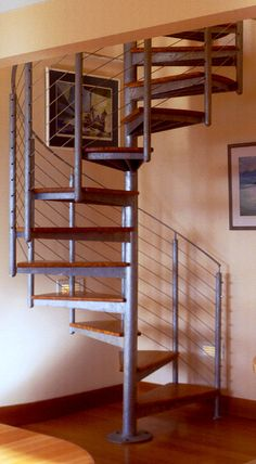 Nonsuch Cottage. Spiral stair to Grahams study.