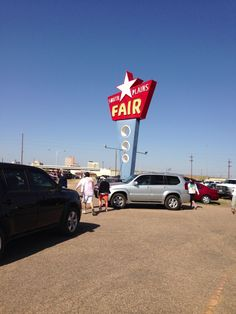 ...the South Plains Fair sign in Lubbock, Texas is pure retro!