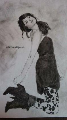 sketch of selena gomez