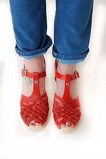 Valencia Sandal Clog red goes everywhere shoe