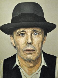 """Joseph Beuys (May 12, 1921 – January 23, 1986) was a German performance artist, sculptor, installation artist, graphic artist, art theorist and pedagogue of art. His extensive work is grounded in concepts of humanism, social philosophy and anthroposophy; it culminates in his """"extended definition of art"""" and the idea of social sculpture as a gesamtkunstwerk."""