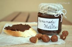 Perfektná domáca Nutella (fotorecept) - Recepty - Varecha.sk Nutella, Food And Drink, Pudding, Homemade, Straws, Recipes, Sweet, Home Made, Custard Pudding