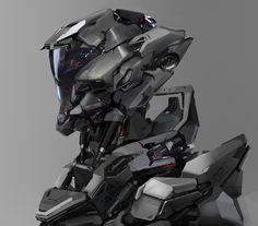 Alien Character, Character Art, Character Design, Futuristic Armour, Futuristic Art, Robot Concept Art, Armor Concept, Robot Design, Helmet Design