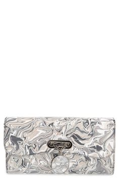 Christian Louboutin 'Riviera - Marble' Patent Leather Clutch available at #Nordstrom
