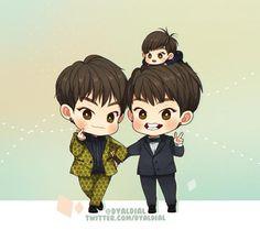 EXO's Fanart by Rosmarin
