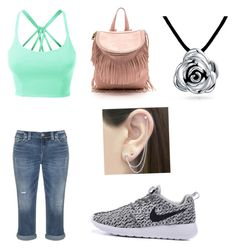"""Cute"" by lily-brooks-1 on Polyvore featuring Silver Jeans Co., LE3NO, Otis Jaxon and Bling Jewelry"