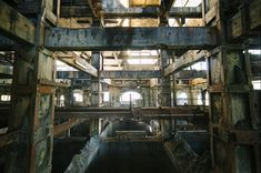 Abandoned French Coal Mine. Just looking inside this place gives me the chills, especially because we don't know the history behind the coal plant and why it was left abandoned.