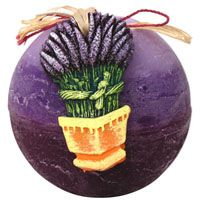 Lavender Scented Ball Candle