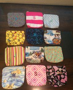 Little zipper bags with monogram