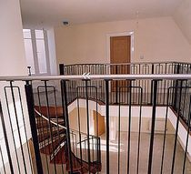 metal railing  Crescent Stairs