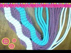 Tutorial #128: Tiras, Fajones o Asas de Mochilas Wayúu   CTejidas [Crochet y Dos Agujas]