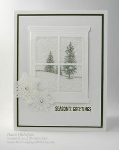 Glitter Window Technique: Happy Scenes, Hearth & Home Bundle | DOstamping with Dawn | Bloglovin'