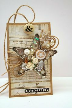 Vintage Star Tag by Julia Stainton
