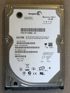 "Seagate HDD Disk 5.4K RPM 100 GB SATA 2.5"" ST9100824AS 655-1286 9W3139-023 3.06 #Seagate"