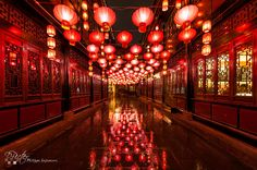 https://flic.kr/p/qwxApm | Jinli Street, Chengdu - Lantern Festival | Jinli Street, Chengdu, Sichuan Province - China : Red chinese lanterns lighting Jinli Street entrance under the rain for the chinese new year lantern festival. Jinli Street (锦里) is 350 meters long and is located next to Wuhou Temple and is a must-see location in Chengdu, China. It was rebuilt in 2004 from a dynastic-era street in ancient China. Now, it's a touristic location with many shops, snacks and an Opera. For…