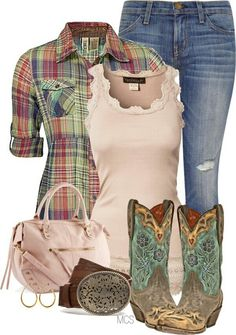 Love this country girl outfits Mode Country, Country Girl Style, Country Fashion, Country Belts, European Fashion, Country Wear, Country Casual, Country Chic Clothing, Country Girl Boots
