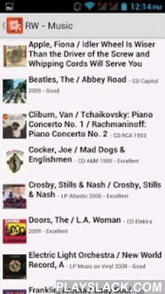 Readerware (Music)  Android App - playslack.com ,  Note: This is not a standalone Android app, it works with Readerware on your desktop, (Windows, Mac OS X & Linux).The easiest, fastest way to catalog your music collection, nothing else comes close. Have a large collection? Readerware auto-catalog lets you feed in a list of UPCs or barcode scans. Readerware then does the rest, building your database for you complete with cover art.The Android version lets you easily sync your database to…