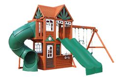 5 Amazing Playhouse / Playset Makeovers! - Chris Loves Julia Backyard Playset, Backyard Playground, Backyard Ideas, Outdoor Play, Play Houses, Amazing, Playhouse Ideas, Ace Family, Play Sets