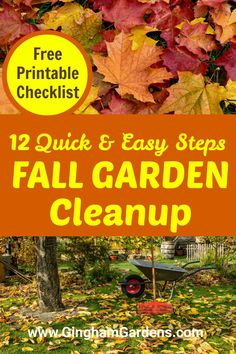 Stop by Gingham Gardens and get tips and easy steps for Fall Garden Cleanup, including how to clean up flower gardens and vegetable gardens in the fall. Plus, reason why you should clean up your gardens in fall. #cleaningupgardensinfall
