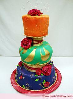 indian wedding cakes   Almas Weddings: Korean Wedding Cakes