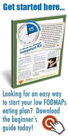 New Low FODMAP Diet Food Comparison Guide - Low FODMAPs Diet Resources & Recipes