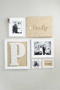 If you're playing with a neutral color scheme, try leaving our wooden letters as they come. The unfinished wood can look naturally mellow against burlap.