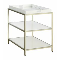 Heath Mirrored End Table