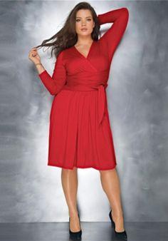 Gorgeous plus size red dress