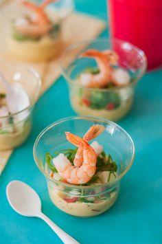 Espacio Culinario: Receta de Shots de camarones para celebrar en formato #fingerfood www.espacioculinario.cl