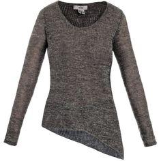 Helmut Linen-blend asymmetric sweater ($233) ❤ liked on Polyvore