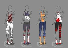 Some Outfit Adopts #4 - sold by Nahemii-san on DeviantArt