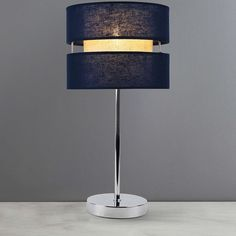 Frea Navy Table Lamp | Dunelm