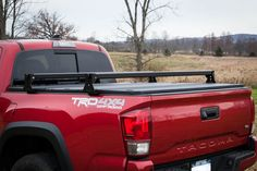 Toyota Tacoma ALUMINUM Hi Rise Crossbars, for use with tonneau covers (fits years 2005 and up) — KB Voodoo Fabrications Toyota Tacoma, Toyota 4runner, Top Tents, Roof Top Tent, Lifted Ford Trucks, Jeep Truck, Tacoma Bed Rack, Tacoma Tent, Tacoma Accessories