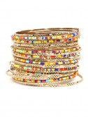 Multicolored bangles