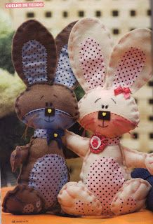 Templates For Crafts Fabric: Rabbit Easter Bunny Crafts, Easter Crafts, Felt Crafts, Diy And Crafts, Arts And Crafts, Handmade Stuffed Animals, Fabric Toys, Butterfly Crafts, Felt Patterns