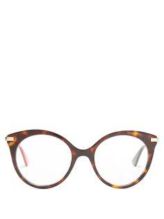 Gucci Round-frame tortoiseshell glasses