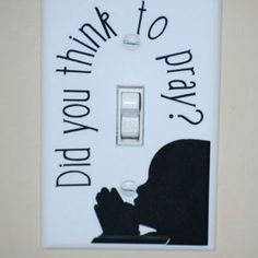 Childrens Room Light Switch...I believe I would like it better if it said 'remember'. Maybe even a different style but regardless I love this!!