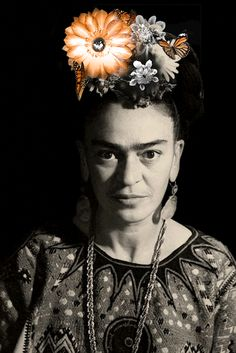 """the-eternal-moonshine: """" Blooming Frida (original photo: Marcel Sternberger, artwork and gif by the-eternal-moonshine) (all my gifs are here) """" Spirits Of The Dead, Mexican Celebrations, Frida Art, Gifs, Gif Photo, Paolo Roversi, Diego Rivera, Moving Pictures, Marcel"""