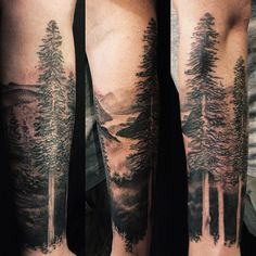Happy trees :) check me out on Instagram: davidallen (at Pioneer Tattoo)