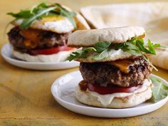 Recipe of the Day: Breakfast Burgers for Dad Finished off with a fried egg and sandwiched between a toasted English muffin, think of this as the ultimate treat for Dad's special day.