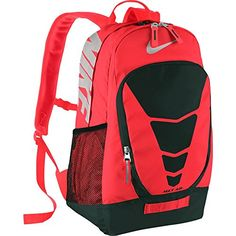 NIKE Max Air Vapor Backpack Large BRIGHT CRIMSONBLACKMETALLIC SILVER -- This is an Amazon Affiliate link. Click on the image for additional details.