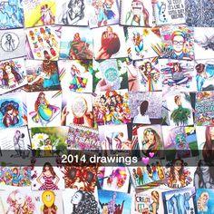 This girl is crazy talented! Kristina Webb Drawings, Kristina Webb Art, Baby Unicorn, Little Unicorn, Beautiful Drawings, Beautiful Artwork, Cool Sketches, Journal Inspiration, Little Babies