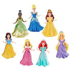 Exclusive Disney Princess Small Doll Magiclip Princess 7-Pack