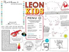 Kids menu. Lamond Commercial Kitchens & Bars: like the way we think? Then you will love working with us! Commercial Kitchen & Bar design for restaurants, cafes, bars, clubs and facilities: www.lamondcatering.com