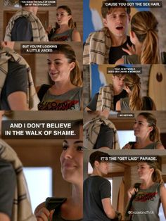 """Mike and Paige don't believe in the """"walk of shame."""""""
